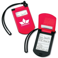 View a larger, more detailed picture of the Plastic Flip Luggage Tag w Strap