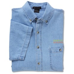 View a larger, more detailed picture of the Short Sleeve 100 Cotton Denim Shirt