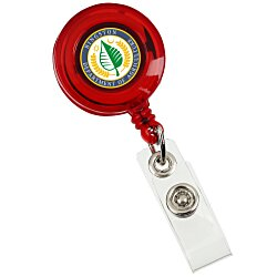 View a larger, more detailed picture of the Retractable Badge Holder - Alligator Clip - Translucent