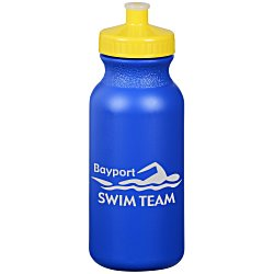 View a larger, more detailed picture of the Sport Bottle w Push Pull Cap - 20 oz - Colors