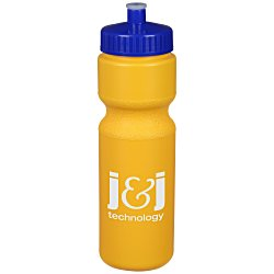 View a larger, more detailed picture of the Sport Bottle w Push Pull Cap - 28 oz - Colors