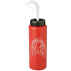 View a larger, more detailed picture of the Sport Bottle w Straw Cap - 32 oz