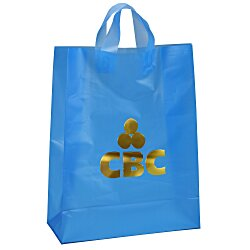 View a larger, more detailed picture of the Soft-Loop Frosted Shopper - 17 x 13 - Foil
