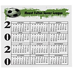 View a larger, more detailed picture of the Bic 30 mil Calendar Magnet - Small
