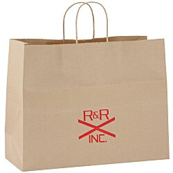 View a larger, more detailed picture of the Kraft Paper Brown Eco Shopping Bag 12 x 16