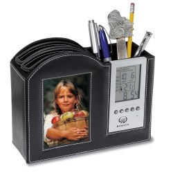 View a larger, more detailed picture of the Frame Clock Desk Organizer