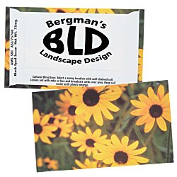 View a larger, more detailed picture of the Business Card Seed Packet Black Eyed Susan