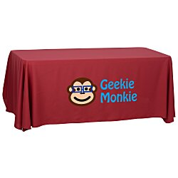 View a larger, more detailed picture of the Economy Open-Back Polyester Table Throw - 6