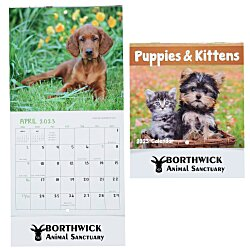 View a larger, more detailed picture of the Puppies & Kittens Calendar - Mini