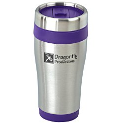View a larger, more detailed picture of the Steel Tumbler with Color Trim - 15 oz