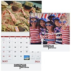 View a larger, more detailed picture of the Celebrate America Calendar - Spiral