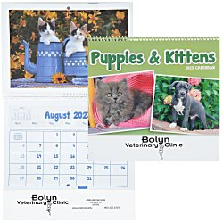 View a larger, more detailed picture of the Puppies & Kittens Calendar - Pocket