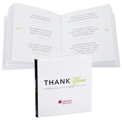 View a larger, more detailed picture of the Gift of Inspiration Book Thank You