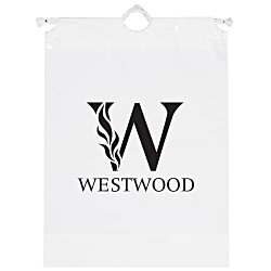 View a larger, more detailed picture of the Poly Bag w Cotton Drawstring - 16 x 12 