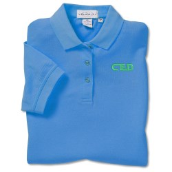 View a larger, more detailed picture of the Cotton Pique Sport Shirt - Ladies