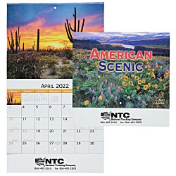View a larger, more detailed picture of the American Scenic Appointment Calendar - Stapled