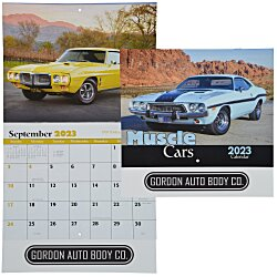 View a larger, more detailed picture of the Muscle Cars Calendar - Stapled