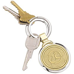 View a larger, more detailed picture of the Two-Tone Brass Key Tag