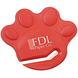 View a larger, more detailed picture of the Paw Shaped Letter Slitter - Opaque