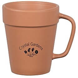 View a larger, more detailed picture of the Flower Pot Mug - 14 oz