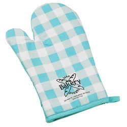 View a larger, more detailed picture of the Therma-Grip Oven Mitt - Plaid- Closeout