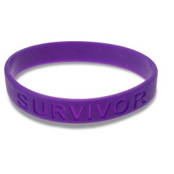 View a larger, more detailed picture of the Survivor Silicone Wristband - Purple