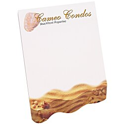 View a larger, more detailed picture of the Bic Beveled Sticky Note Pad - Angled Wave Shape