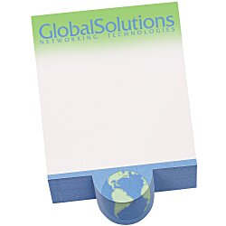 View a larger, more detailed picture of the Bic Beveled Sticky Note Pad - Circle Shape