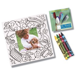 View a larger, more detailed picture of the Picture Me Coloring Magnet Frame - Dentist