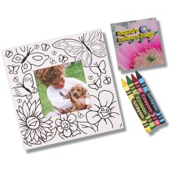View a larger, more detailed picture of the Picture Me Coloring Magnet Frame - Flowers