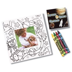View a larger, more detailed picture of the Picture Me Coloring Magnet Frame - Outer Space