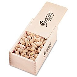 View a larger, more detailed picture of the Wooden Box with Pistachios
