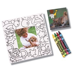 View a larger, more detailed picture of the Picture Me Coloring Magnet Frame - Animals