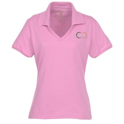 View a larger, more detailed picture of the Jerzees SpotShield Johnny Collar Shirt - Ladies