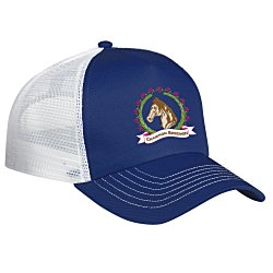 View a larger, more detailed picture of the Mesh Back Trucker Cap - Embroidered