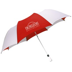 View a larger, more detailed picture of the Logo View Umbrella - Closeout