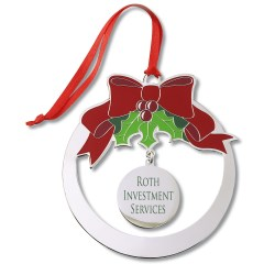 View a larger, more detailed picture of the Holiday Ornament - Bow