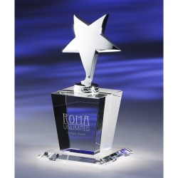 View a larger, more detailed picture of the Cristalo Crystal Star Award