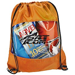 View a larger, more detailed picture of the Clear-View Drawstring Bag