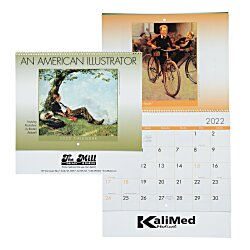 View a larger, more detailed picture of the An American Illustrator Calendar - Spiral