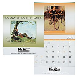 View a larger, more detailed picture of the An American Illustrator Calendar - Stapled