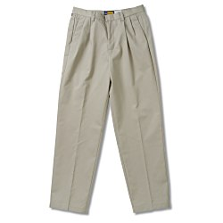 View a larger, more detailed picture of the Teflon Treated Pleated Twill Pants - Ladies