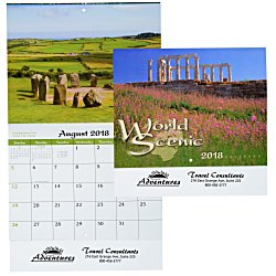 View a larger, more detailed picture of the World Scenic Calendar - Stapled