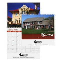 View a larger, more detailed picture of the Homes Appointment Calendar - Spiral