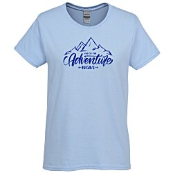 View a larger, more detailed picture of the Gildan 6 1 oz Cotton T-Shirt - Ladies - Screen - Colors