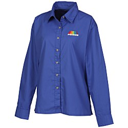 View a larger, more detailed picture of the Blue Generation LS Poplin Shirt - Ladies