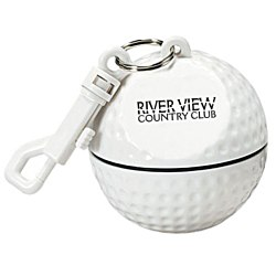 View a larger, more detailed picture of the Sport Ball w Rain Poncho - Golf Ball
