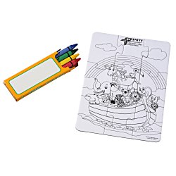 View a larger, more detailed picture of the Coloring Puzzle & Crayons - Ark