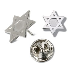 View a larger, more detailed picture of the Lapel Pins - Star of David - Unimprinted
