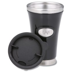 View a larger, more detailed picture of the Stainless Steel and Ceramic Tumbler - 12 oz